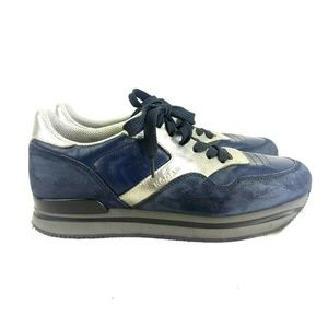 Hogan Womens 39.5 9.5 Blue Sneaker 147-33